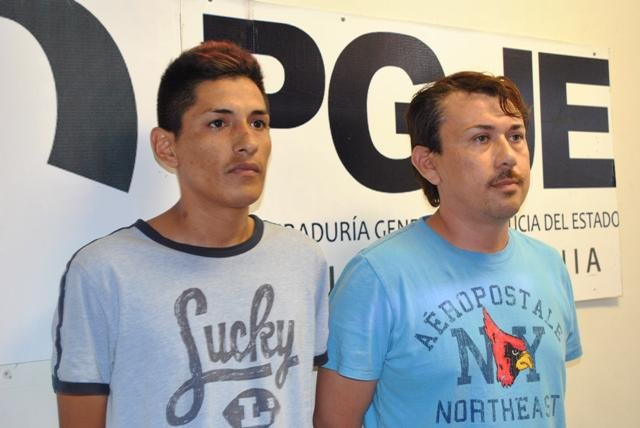 Ramón García García and Marck Rivera García, accused of exploiting a minor for sexual purposes.