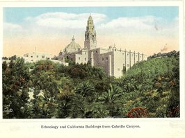 can you picture a modern too-narrow, offramp, hairpin sharp turn around Bertram Goodhue's Spanish Colonial Revival masterpiece?