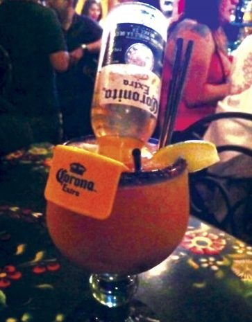 Try the Spicy Mango (Corona Rita)  at the Tequileria of El Zarape