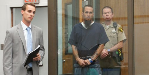 Private defense Bradley Corbett and Brian Joseph Webb II in court.  Photo Bob Weatherston.