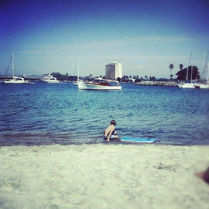 Beautiful Day at San Diego Beach