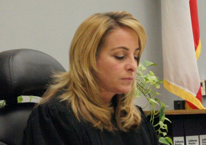 Judge Kimberly Lagotta signed the plea deal.  Photo Bob Weatherston.
