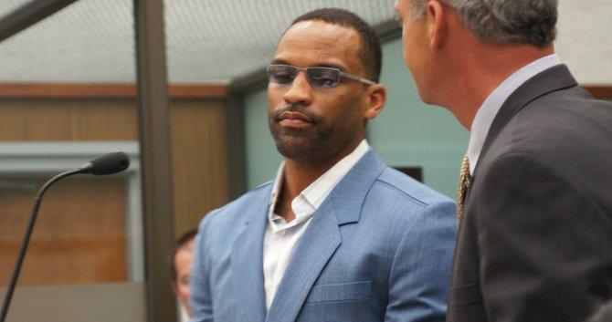 Robert Otis Griffith in court August 3 2012.  Photo Bob Weatherston.