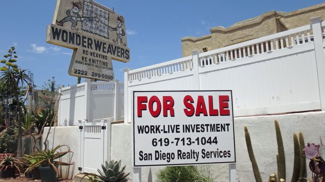 The original Wonder Weavers location, on El Cajon Blvd. in North Park since 1950, went up for sale. [The business moved sometime back to a house on Texas St.]