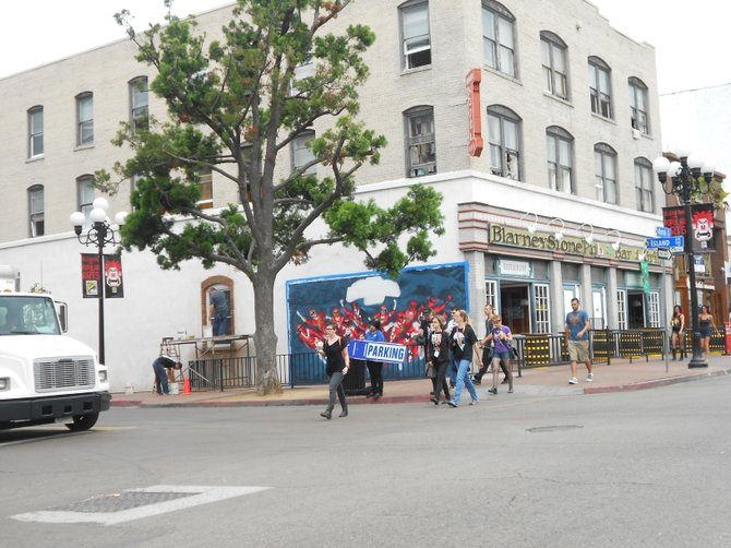 Downtown's Gaslamp District at Comic-Con.