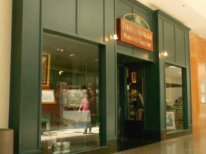 Thomas Kinkade Art Gallery at Parkway Plaza Mall.
