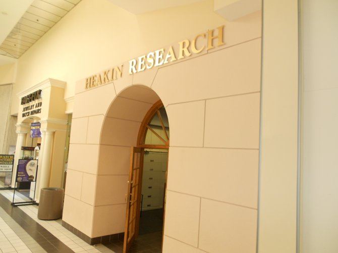 Heakin Research in El Cajon shopping mall.