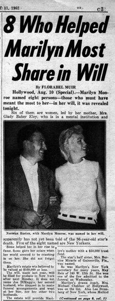 NEW YORK DAILY NEWS, Saturday, August 11, 1962.