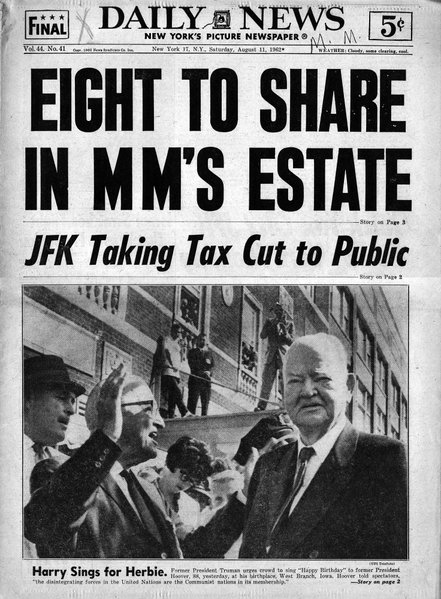 NEW YORK DAILY NEWS, Saturday, August 11, 1962.