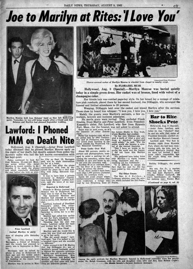 NEW YORK DAILY NEWS, Thursday, August 9, 1962.