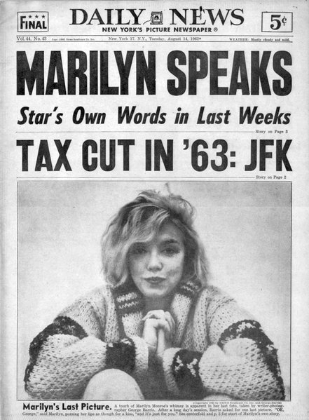 NEW YORK DAILY NEWS, Tuesday August 14, 1962.