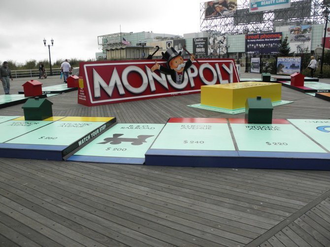 Monopoly Board Game in Atlantic City, New Jersey