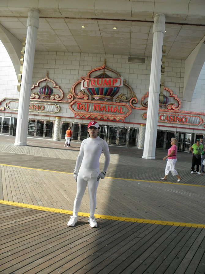 Visiting The Taj Mahal in Atlantic City, New Jersey  in the early morning.