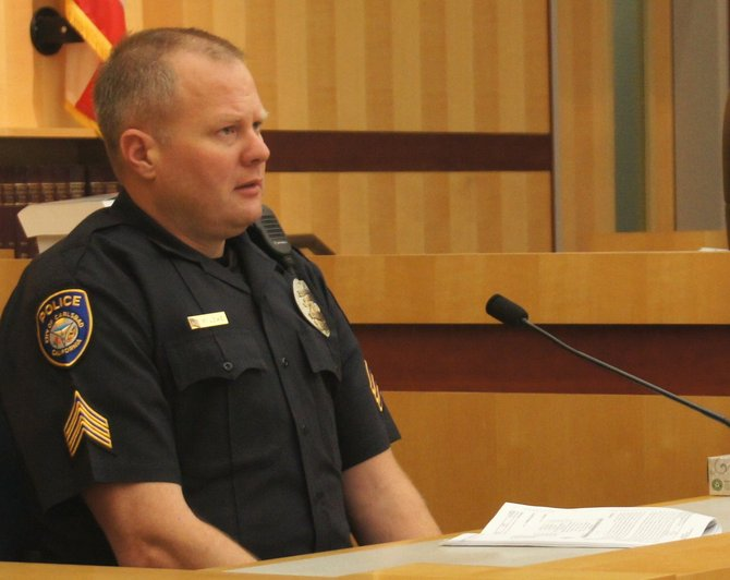Carlsbad PD sergeant Matthew Lowe.  Photo Weatherston.