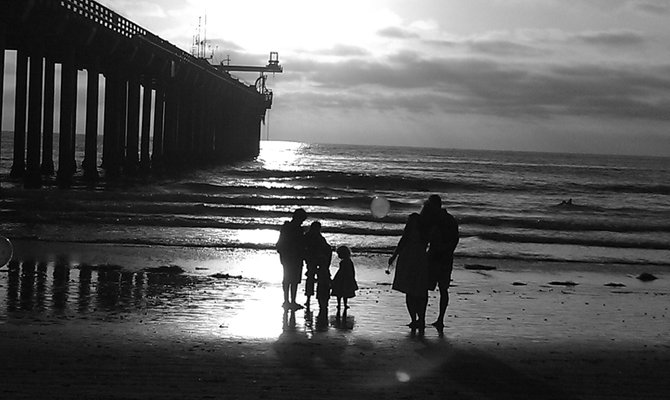 Family walk @ Scripps ca