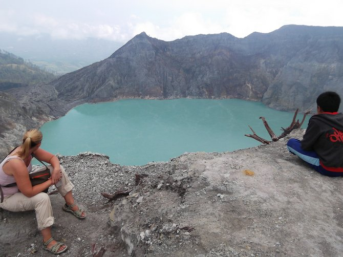 view of Ijen from above