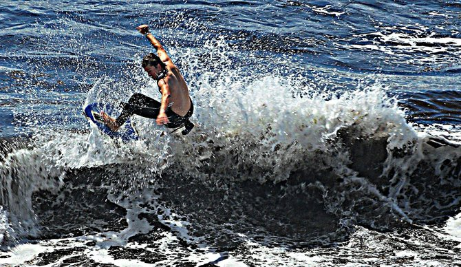 La jolla Skim boarder