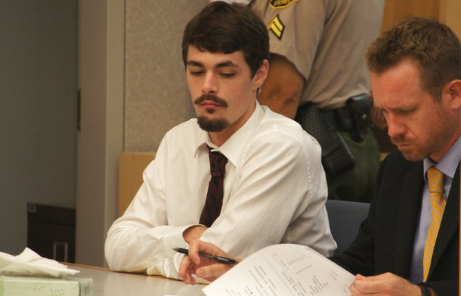 Taylor Jensen and def atty Lance Rogers.  Photo Weatherston.