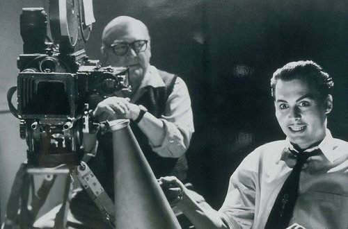 "Alden with Johnny Depp in ""Ed Wood."""