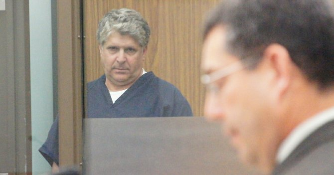 Michael Theodore Pines and prosecutor Romo.  Photo Weatherston.