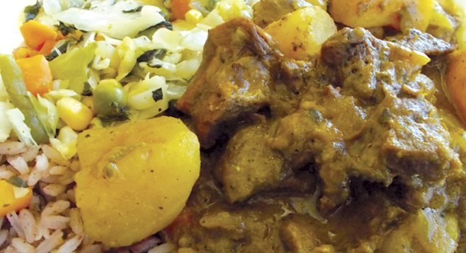 My curry goat dish