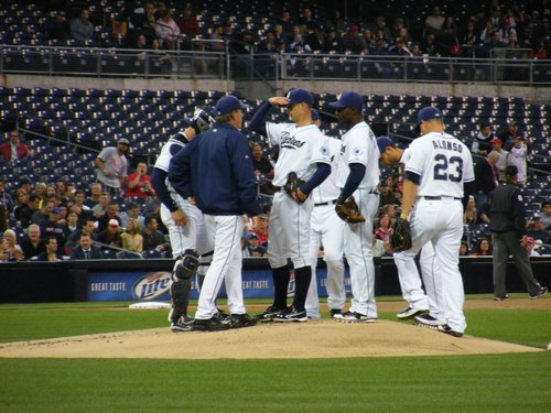 Meeting on the mound from earlier this year, not necessary on Wednesday afternoon.