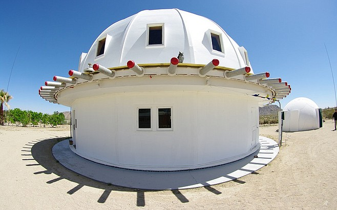 exterior of the Integratron (photograph by Frank B. Baiamonte)