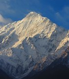 Along the Annapurna Circuit. View of Manaslu Mountain the 8th Highest Mountain in the World ...
