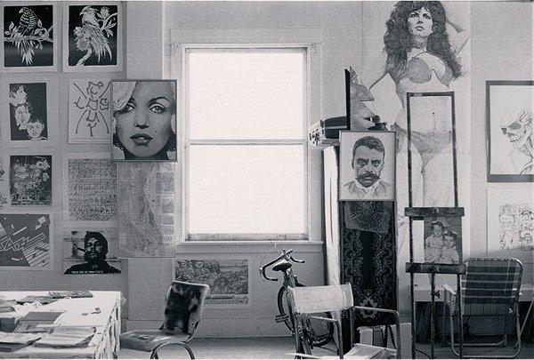 Interior of studio, 1978. John Valadez/kcet.org