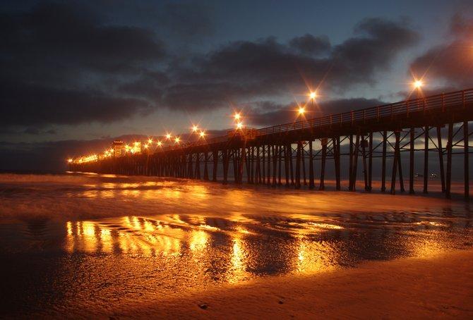 The Oceanside Pier at sunset