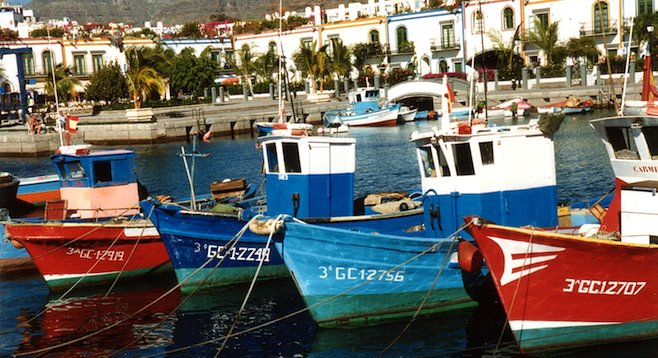 Puerto de Mogán, a fishing village in the southwest of the Canary Islands' Gran Canaria, is a picturesque place to visit.
