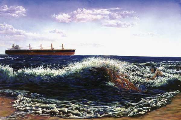Sea Monsters and Freight (2007) offers three orders of monstrousness — industrial, natural, and existential.
