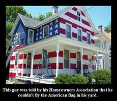 This guy was told by his homeowners association he couldn't fly the American flag in his front yard.