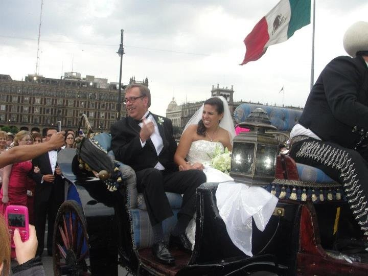 The Movement's bride, Mariana (and her father)  in Mexico City