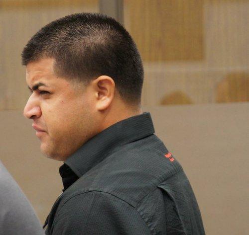 Eduard Hidalgo, now 26, pleaded not guilty. Photo Weatherston.