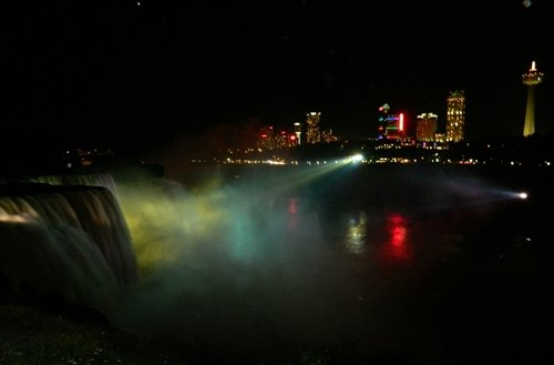 the falls at night