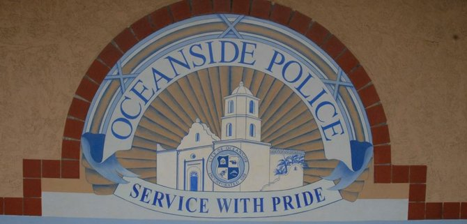 Signage on wall at Oceanside Police headquarters.  Photo Weatherston