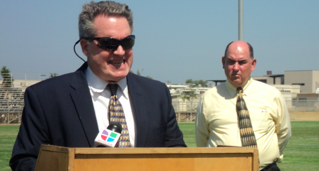 On August 17, the district stated that levels of pesticides and lead in soil dumped at Southwest High were too low to pose a threat. (L-R: Thomas Calhoun, Ed Brand)