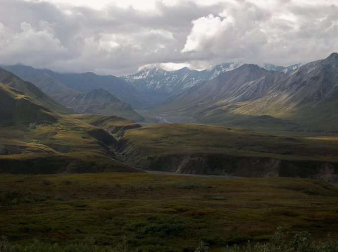 The view from the Eielson Visitor's Center, Denali National Park, Alaska.