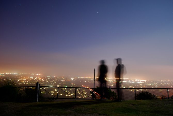Midnight on Mt. Soledad