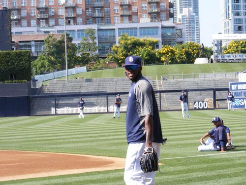 San Diego Padres center fielder Cameron Maybin.