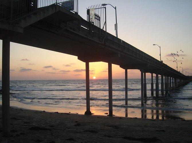 The beautiful sunset of Ocean Beach