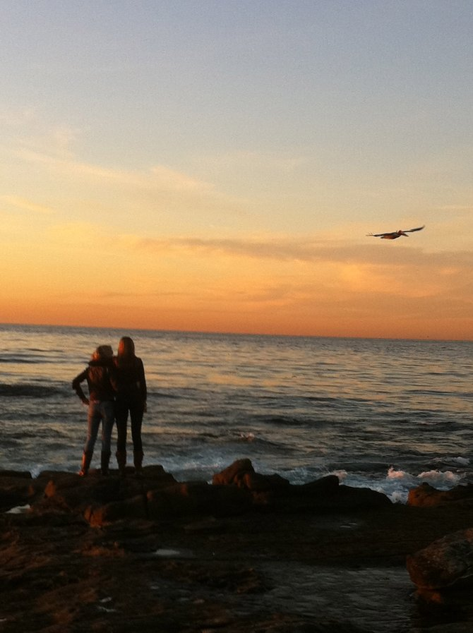 In remembrance, sunset at La Jolla Shores