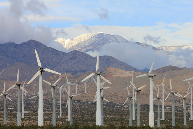 Windmills on North Palm Springs, CA.  I usually like to take my photos from a moving vehicle, actually I don't have a choice when your in a hurry to get from point A to point B!  Enjoy...