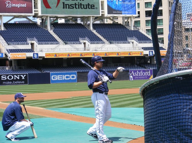 Padres outfielder Carlos Quentin