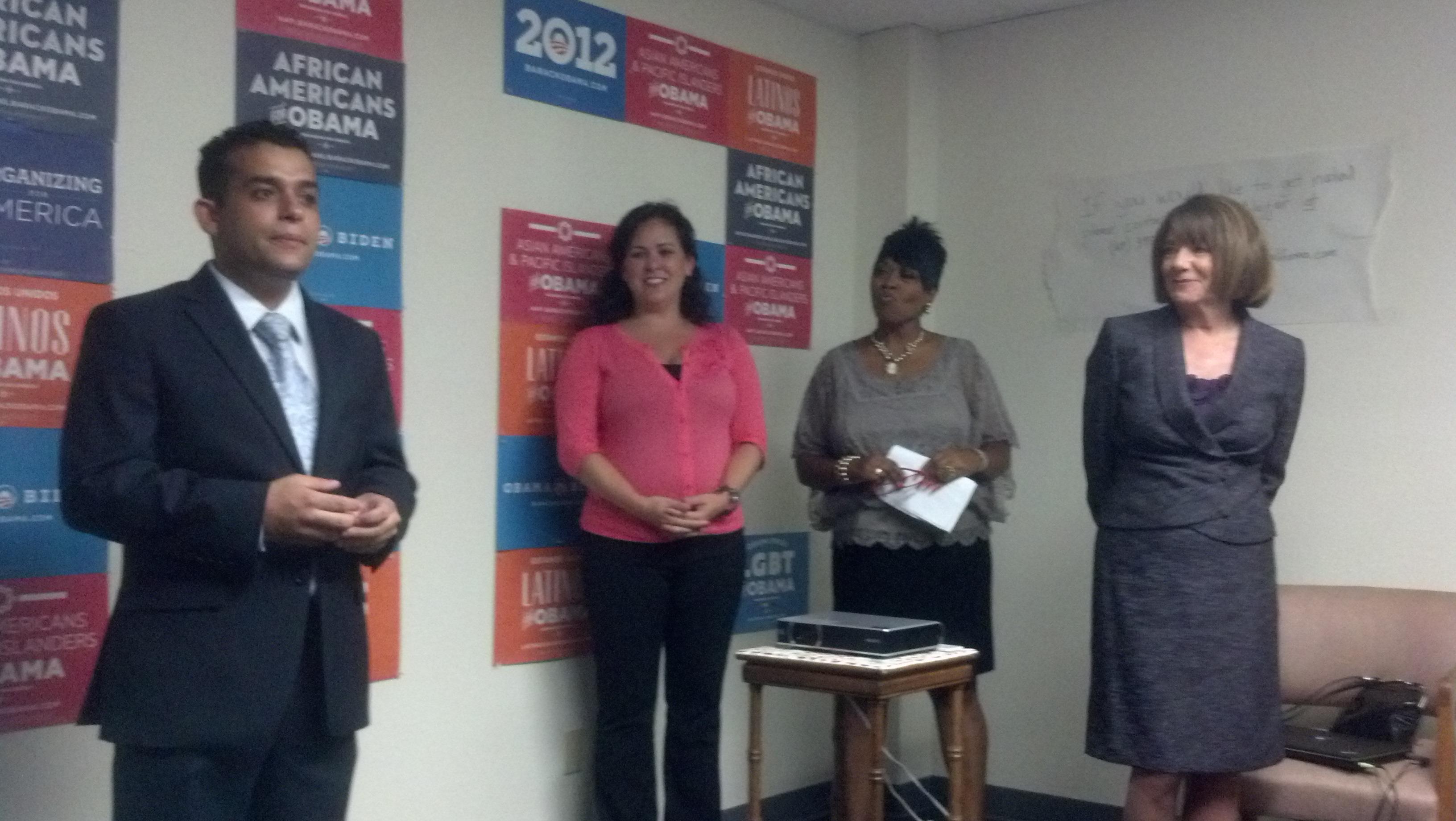 (L to R): Will Rodriguez-Kennedy, Lorena Gonzalez, Vanessa Jackson, Susan Davis
