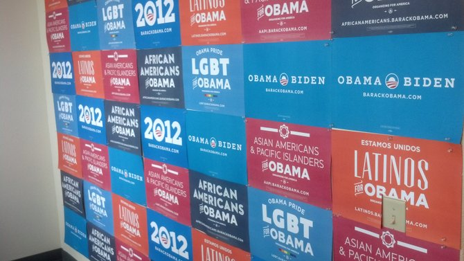 Obama Wall at Office Entry
