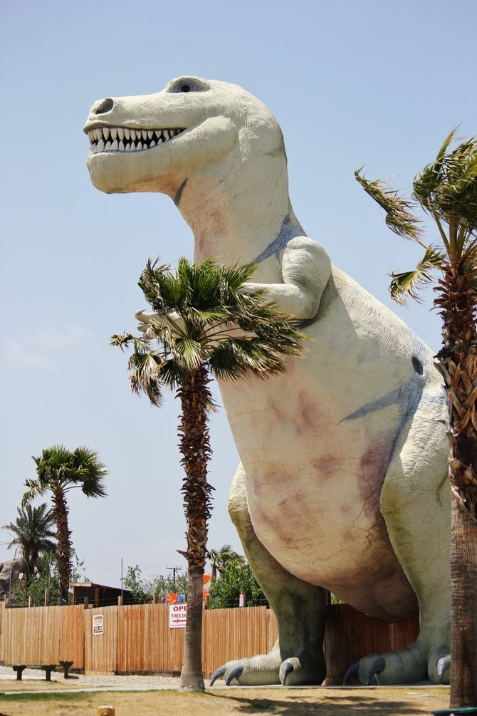 While on our way to Riverside, CA. you need to travel through Cabazon, CA. which is where you can stop an shop with the Dinosaurs!  They are huge in caparison to our tiny vehicles and they have lots of toys inside which make great travel gifts for those special kids.  Enjoy...