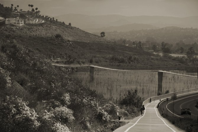 The foot bridge over Lake Hodges, Escondido