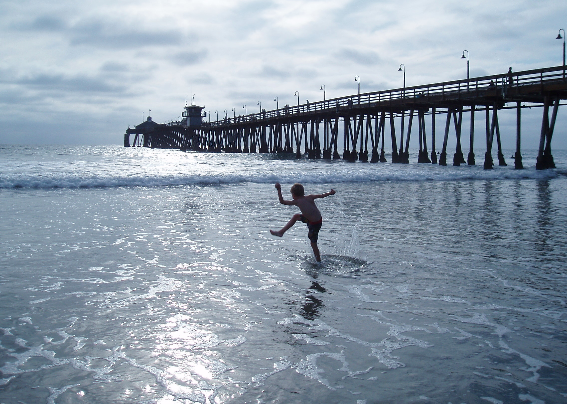 Summertime at Imperial Beach.